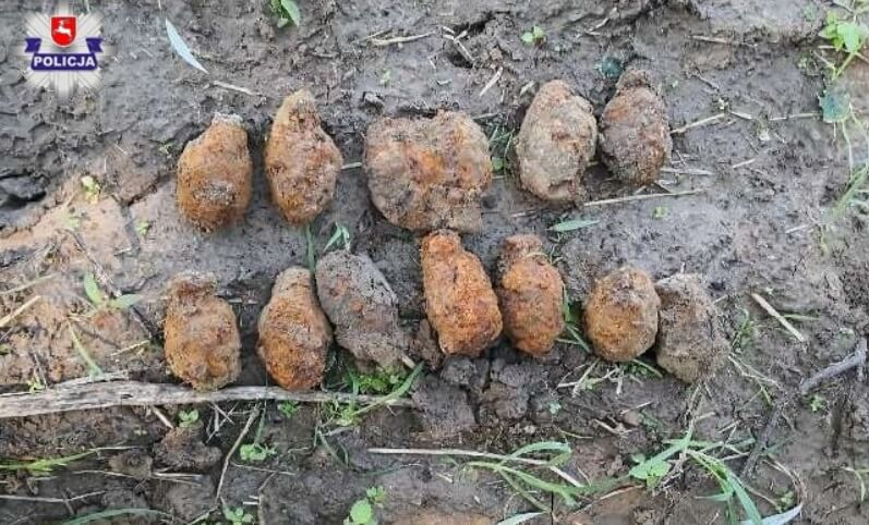 Zamość: Saperzy zabezpieczyli 16 granatów z II Wojny Światowej